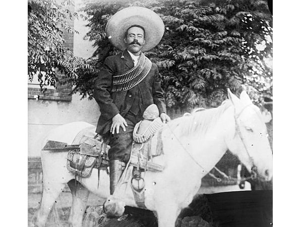 """Photo: Doroteo Arango Arámbula, better known as Francisco or """"Pancho"""" Villa, a Mexican Revolutionary general, between 1908 and 1919. Credit: Library of Congress, Prints and Photographs Division."""