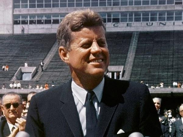 Photo: President Kennedy speaking at Rice University in Houston on 12 September 1962. Credit: Wikimedia Commons.
