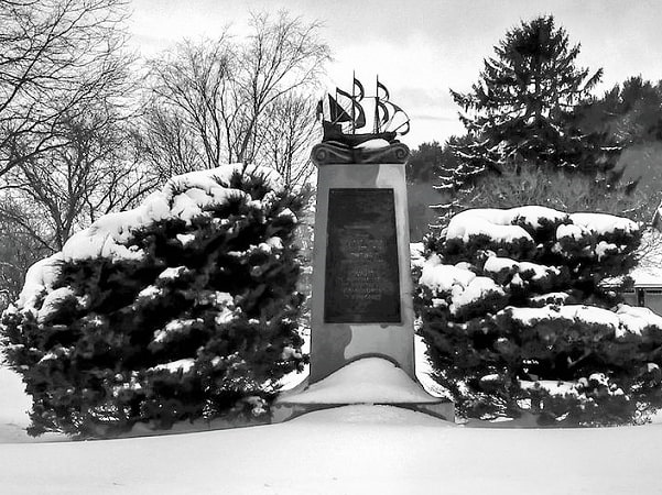 Photo: the Founders' Monument in Newbury, Massachusetts. Credit: Wayne Chase.