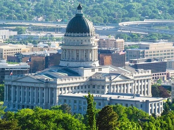 Photo: the Utah State Capitol, Salt Lake City, Utah. Credit: Jkinsocal; Wikimedia Commons.