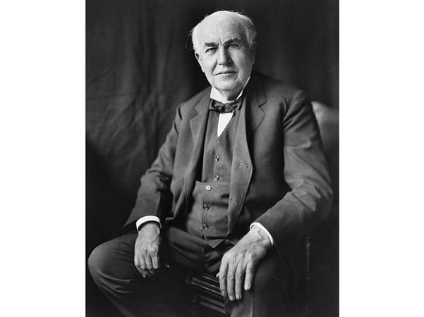 Photo: Thomas Edison, c. 1922. Credit: Library of Congress, Prints and Photographs Division.