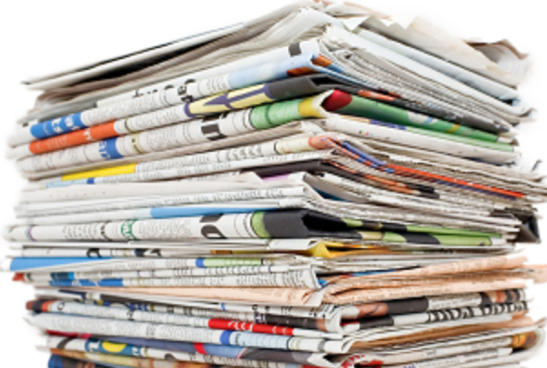 Photo: a stack of newspapers