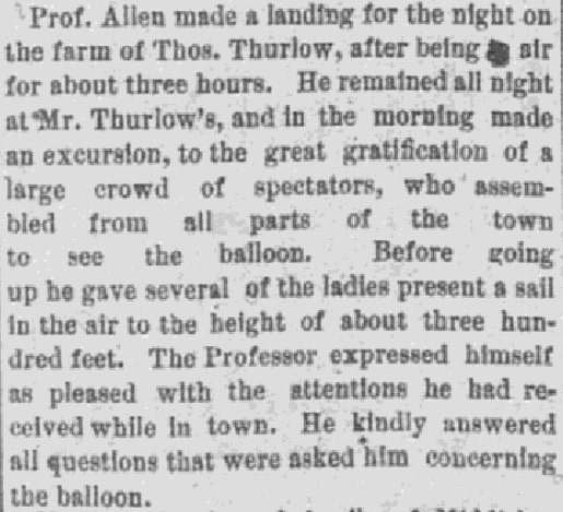 An article about Thomas Thurlow, Daily Evening Bulletin newspaper article 24 July 1891