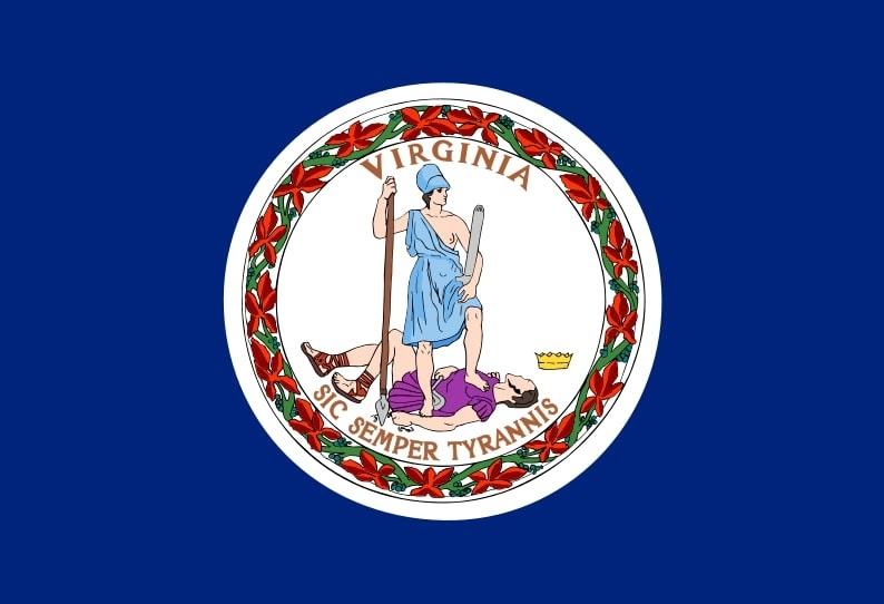 Illustration: Virginia state flag
