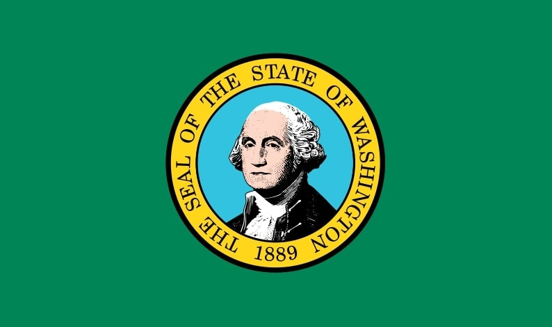 Illustration: Washington state flag