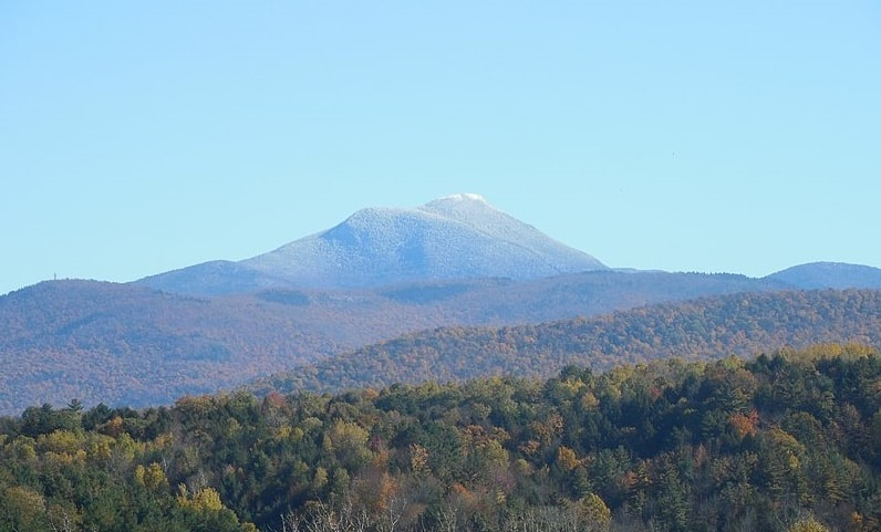 Photo: western face of Camel's Hump Mountain, Vermont (elevation 4,079 feet)