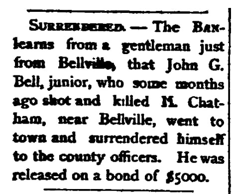 An article about John G. Bell Jr., Southern Banner newspaper article 30 January 1880