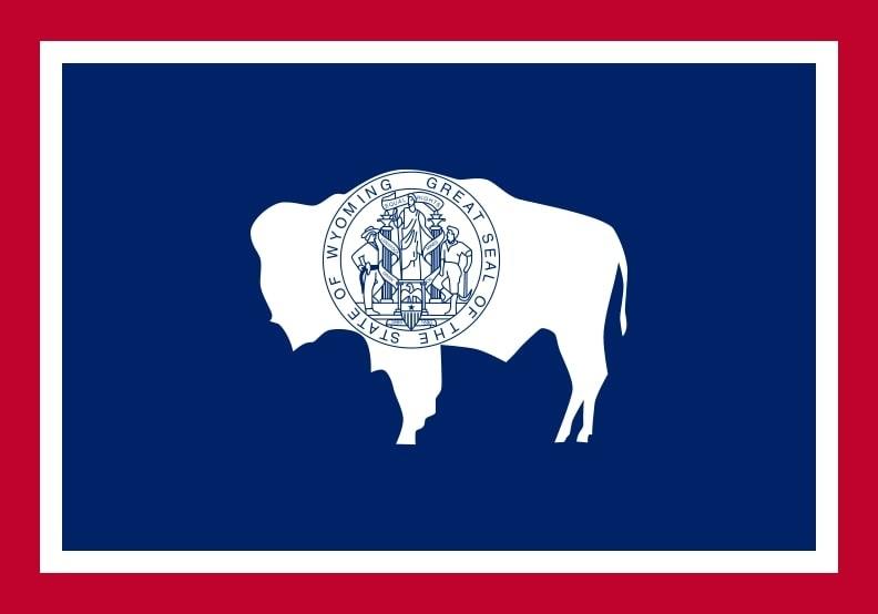 Illustration: Wyoming state flag