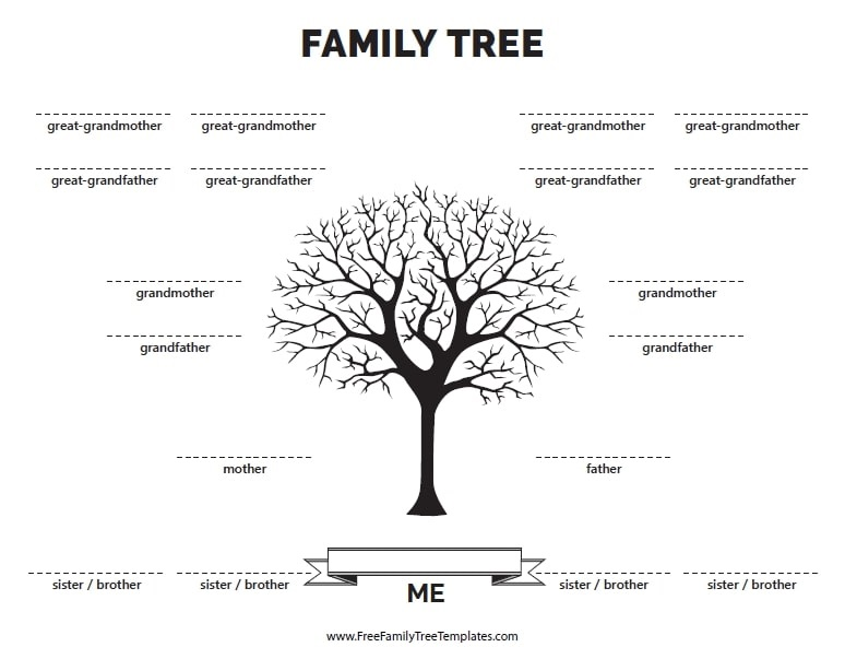 Illustration: a family tree template