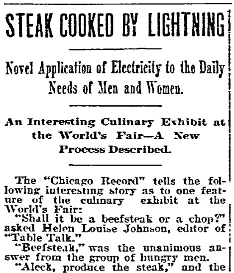 An article about the 1893 Chicago World's Fair, Philadelphia Inquirer newspaper article 11 June 1893
