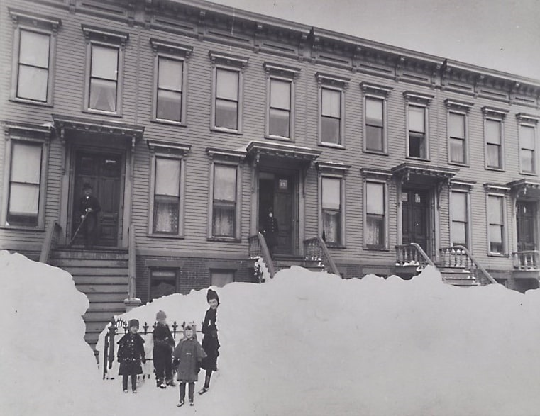 Photo: Brooklyn children after the Blizzard of 1888
