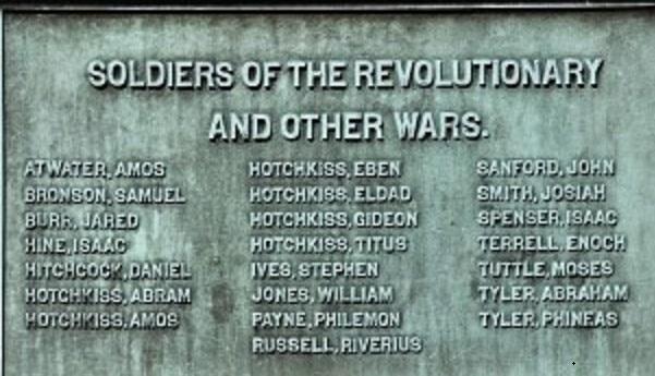 Photo: American Revolutionary War memorial listing Hotchkiss veterans. Credit: Jeanne Bryan Insalaco.