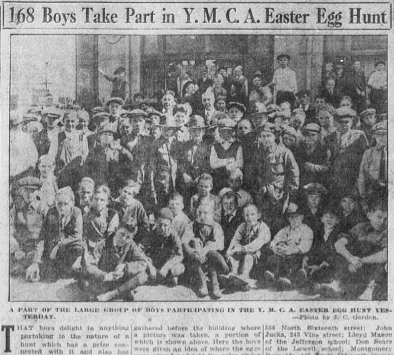 An article about an Easter egg hunt, San Jose Mercury News newspaper article 4 April 1920