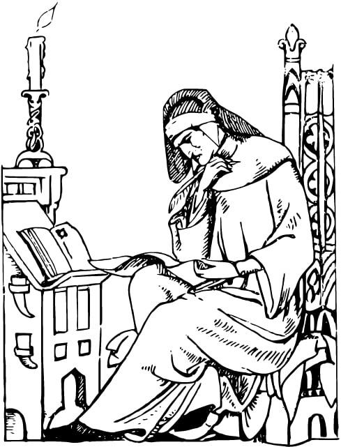 Illustration: a medieval scholar