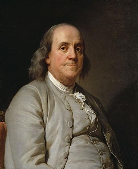 Illustration: Benjamin Franklin, by Joseph Duplessis, c. 1785