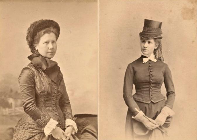 """Photo: Mary Katherine """"Kate"""" Horsford (left) and Cornelia Conway Felton Horsford"""