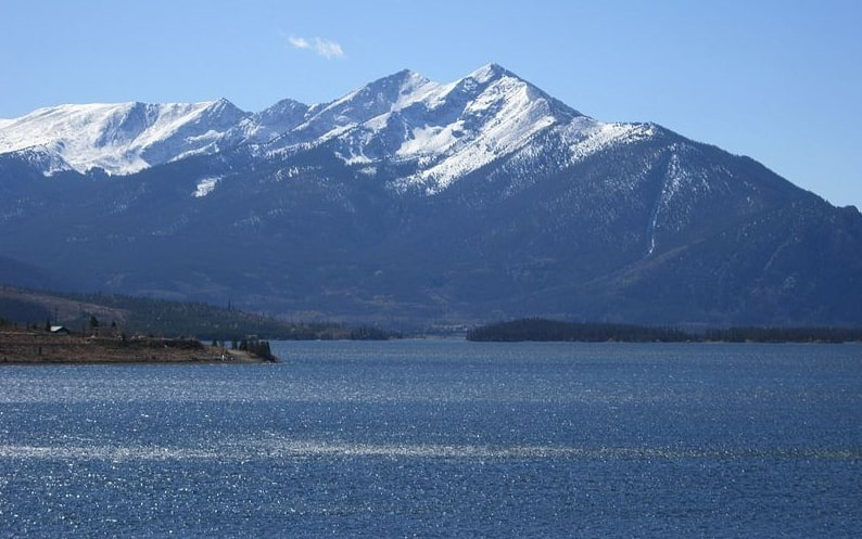 Photo: Tenmile Range and Dillon Lake near Breckenridge, Colorado