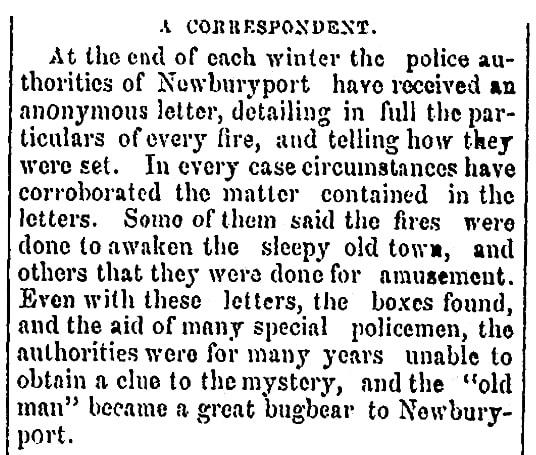 An article about Leonard Choate's letters, Schenectady Evening Star newspaper article 4 March 1869