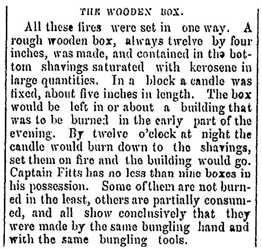 An article about Leonard Choate's fireboxes, Schenectady Evening Star newspaper article 4 March 1869