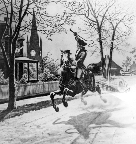 "Illustration: ""The Midnight Ride of Paul Revere"""