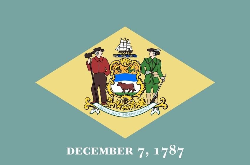Illustration: Delaware state flag