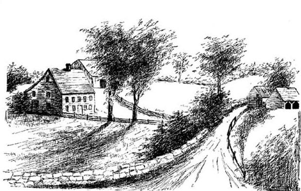 Illustration: home of Nicholas and Hannah Phelps in Salem, Massachusetts
