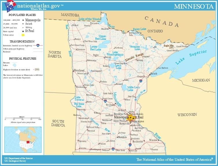 Map: Minnesota