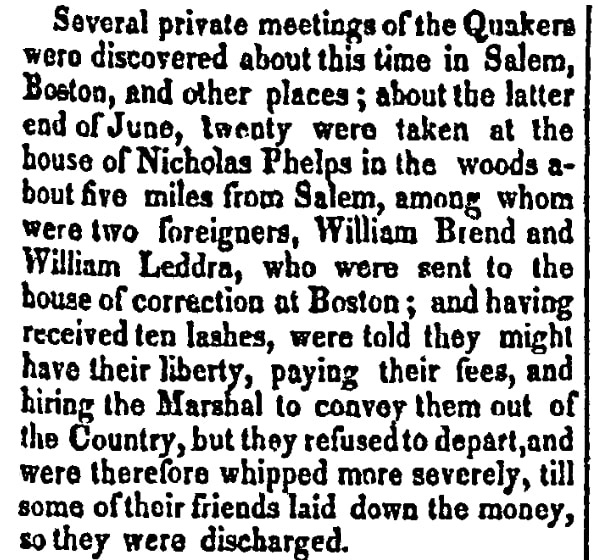 An article about Quakers, New-Hampshire Republican newspaper article 24 April 1829