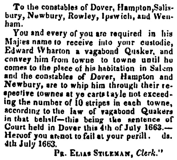 An article with more details about Edward Wharton's punishment, Newburyport Herald newspaper article 27 June 1837