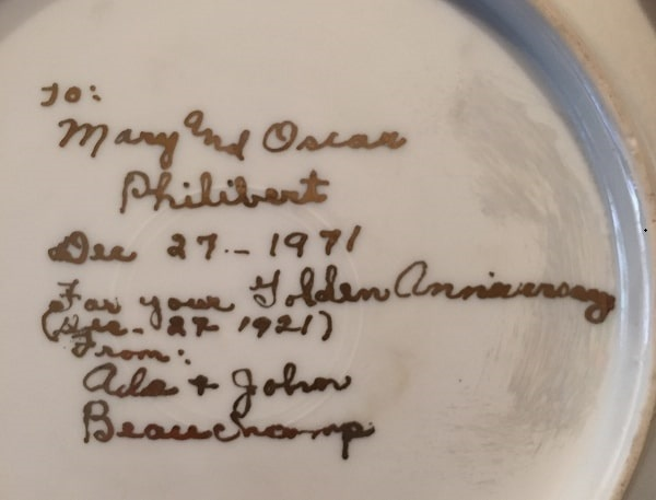 Photo: inscription on the back of that same china bowl