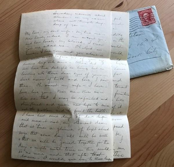 Photo: letter to E.G. Stetson
