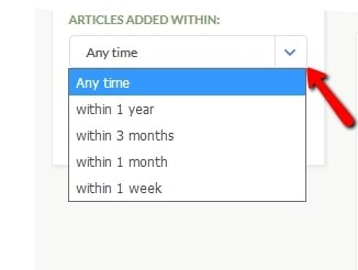 A screenshot of GenealogyBank's search results page showing the feature allowing you to search only on newly-added content