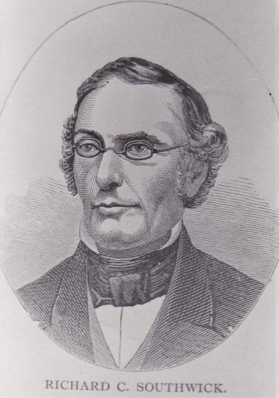 Illustration: Richard C. Southwick, a descendant who had the original letter in 1854