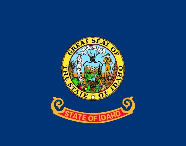 Illustration: Idaho state flag