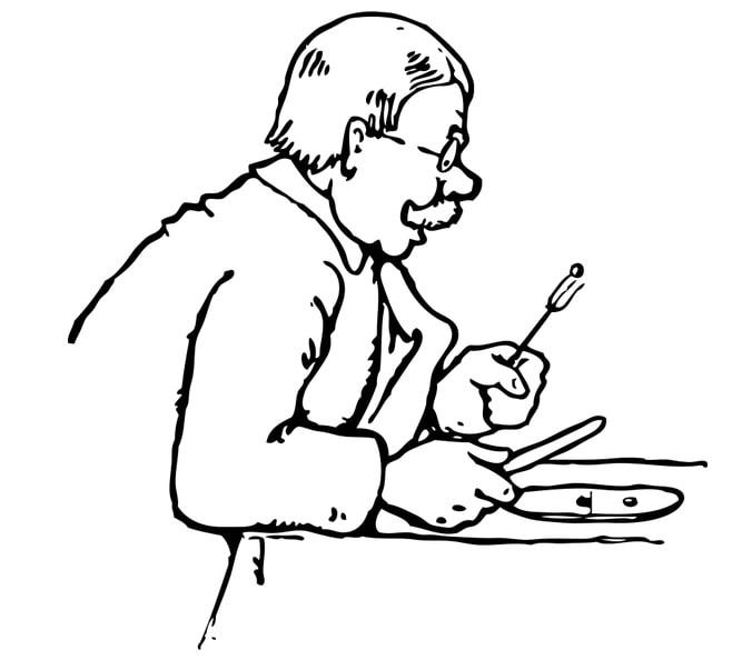 Illustration: man eating