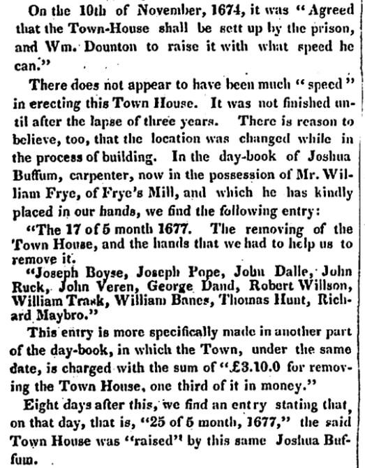 An article about Joshua Buffum, Salem Register newspaper article 12 May 1842