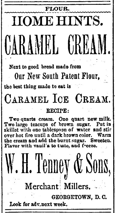 An article about ice cream, Alexandria Gazette newspaper article 25 March 1895