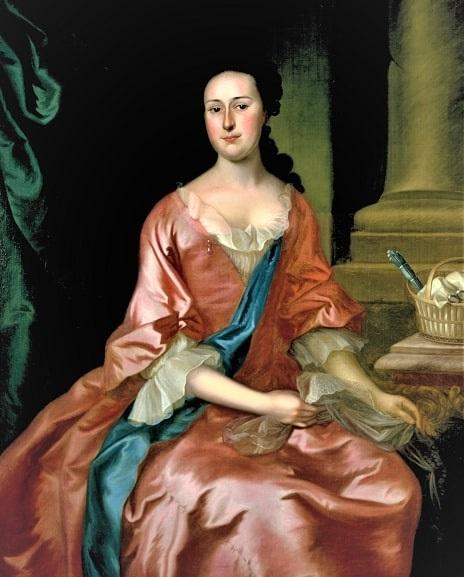 Illustration: Eunice Turner Browne, daughter of John II and Mary Kitchen Turner, wife of Benjamin Browne