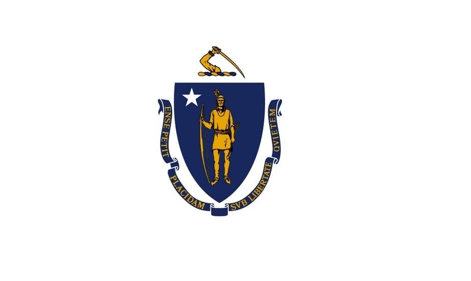 Illustration: Massachusetts state flag