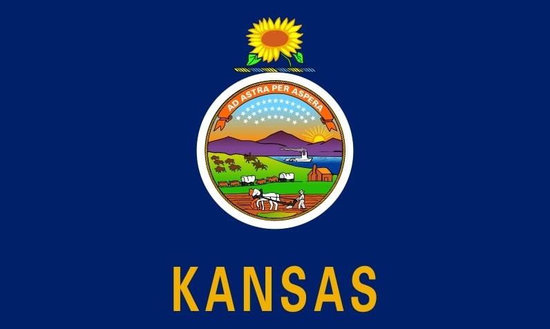 Illustration: Kansas state flag