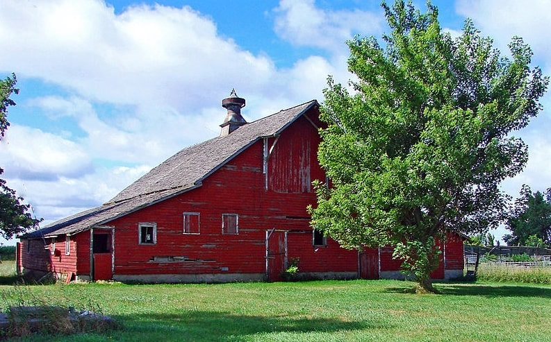 Photo: farm in rural northwest Iowa