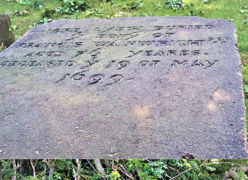 Photo: inscription on the tomb of Francis Wainwright, Burying Point Cemetery, Salem, Massachusetts