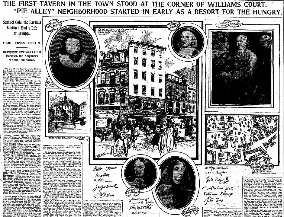 An article about Anne Hutchinson, Boston Herald newspaper article 4 June 1901