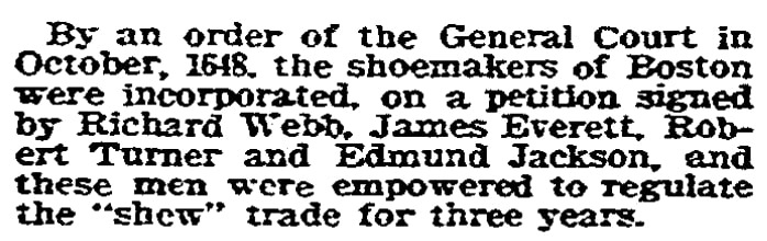 An article about Robert Turner, Boston Herald newspaper article 16 July 1905