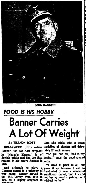 An article about John Banner, Daily Illinois State Journal newspaper article 12 February 1966