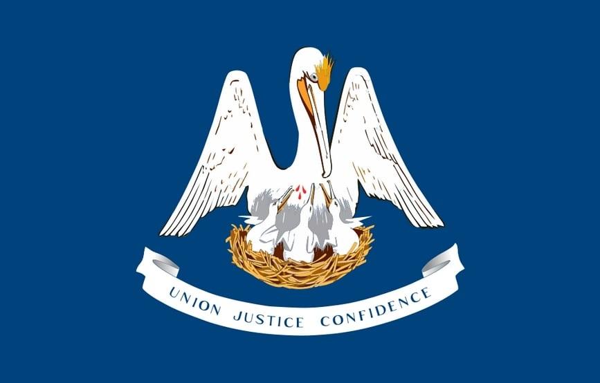 Illustration: Louisiana state flag