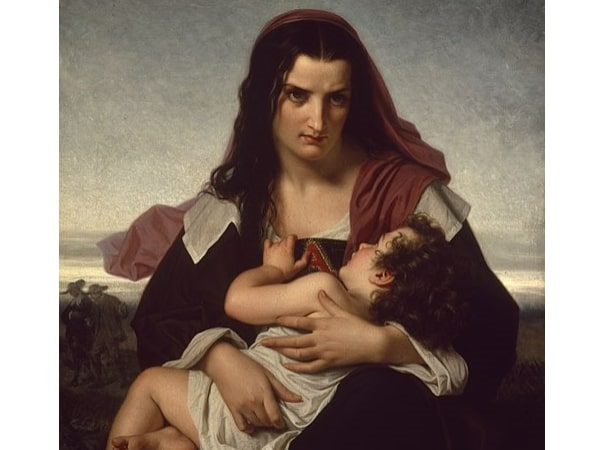 """Illustration: """"The Scarlet Letter"""" by Hugues Merle, 1861. Credit: Walters Art Museum; Wikimedia Commons."""