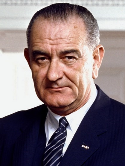 Photo: President Lyndon B. Johnson in the Oval Office in 1964