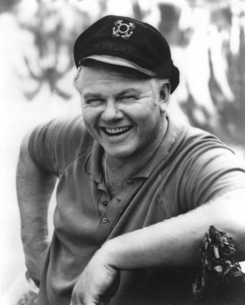 """Photo: Alan Hale Jr. as the Skipper from the television program """"Gilligan's Island"""""""