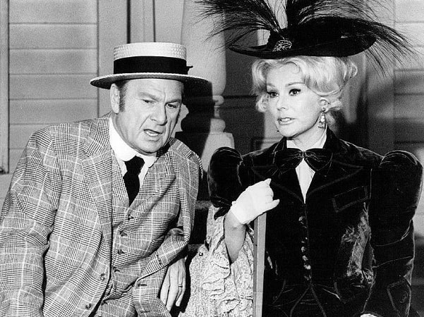 """Photo: Eddie Albert and Eva Gabor from the television comedy """"Green Acres."""" Credit: Wikimedia Commons."""